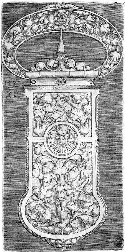 5002: Aldegrever, Heinrich: Entwurf für eine Gürtelschn