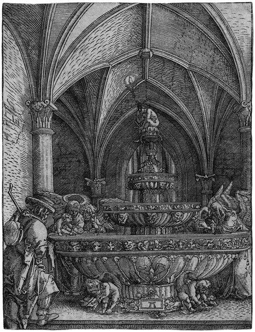 5008: Altdorfer, Albrecht: Die heilige Familie am Brunn