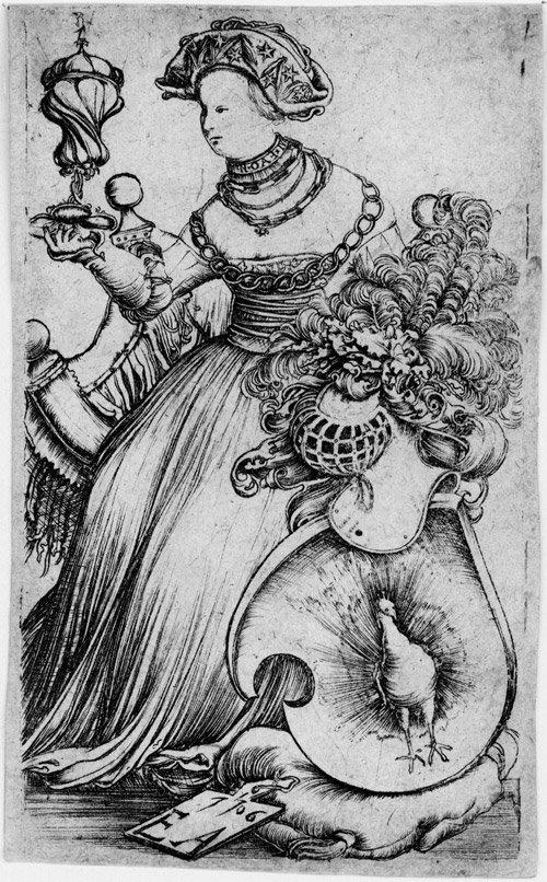 5010: Altdorfer, Erhard: Die Dame mit dem Pfauenwappen