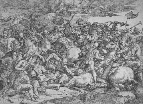 5014: Angolo, Giovanni Battista d': Reiterschlacht
