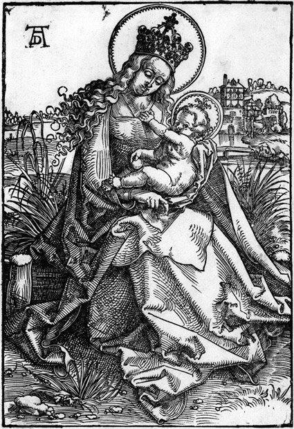 5021: Baldung, Hans: Die Madonna auf der Rasenbank
