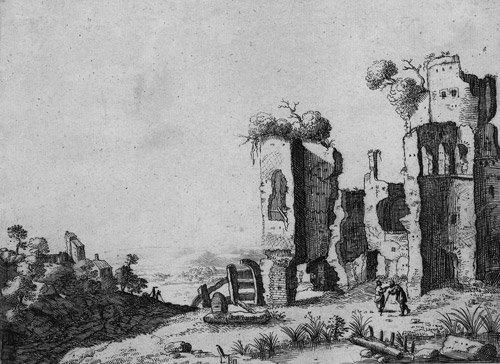 5023: Baratta, Laurens: Italienische Landschaft mit ant