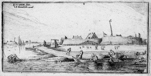 5293: Velde, Esaias van de I: Ruderboote vor den Befest