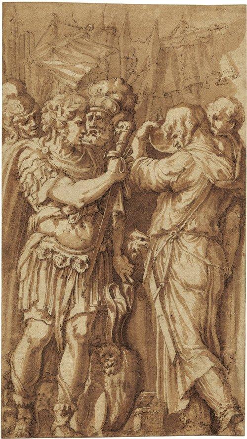 6171: Polidoro da Caravaggio - Umkreis: Szene aus der r