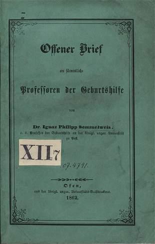 Semmelweis, Ignaz Philipp: Offener Brief