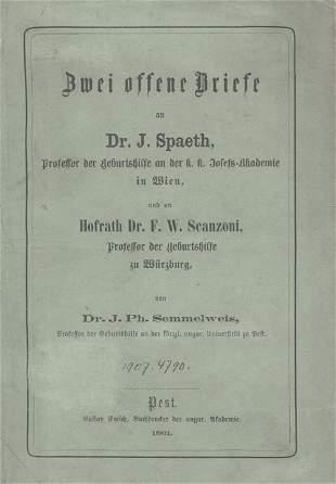 Semmelweis, Ignaz Philipp: Zwei offene Briefe