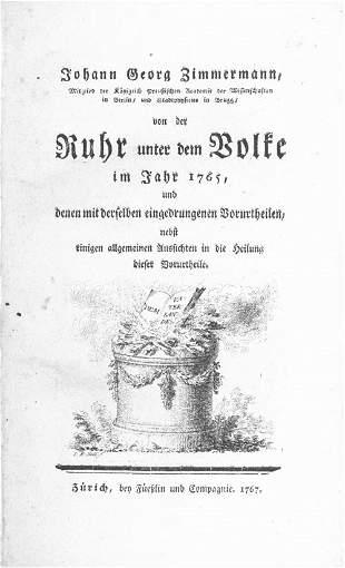 Zimmermann, Johann Georg: Von der Ruhr unter dem V