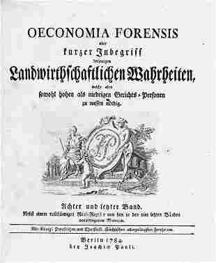 Beneckendorf, K. F. v.: Oeconomia Forensis