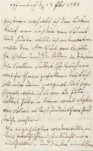 La Roche, Sophie von: 8 Briefe 1788-1798