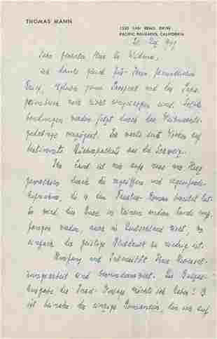 Mann, Thomas: 6 Briefe an Walter Widmer