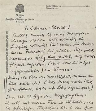 Zuckmayer, Carl: Brief 1925