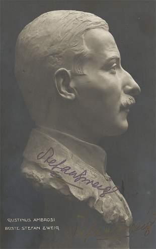 Zweig, Stefan: Porträtfoto-Postkarte 1921?