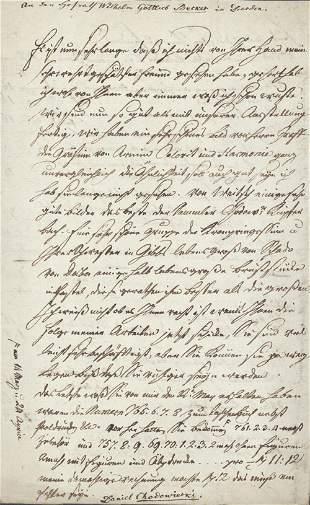 Chodowiecki, Daniel: Brief 1794