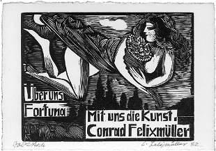 Felixmüller, Conrad: Eigh. Brief m. U. (Neujahr 1