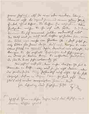 Marc, Franz: Eigh. Brief m. U. 1916