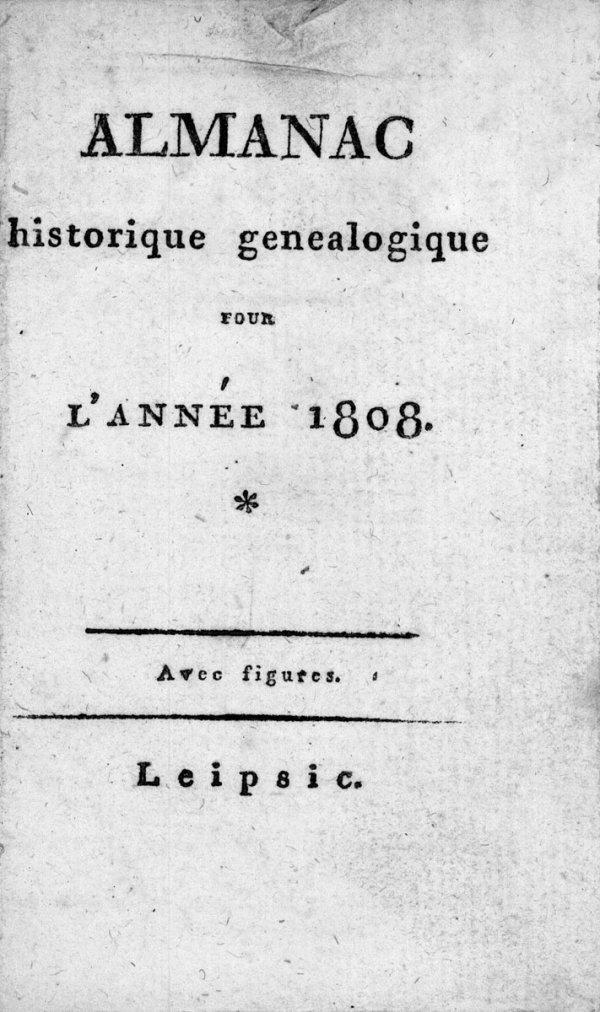1403: Almanac historique généalogique: pour l'année 180