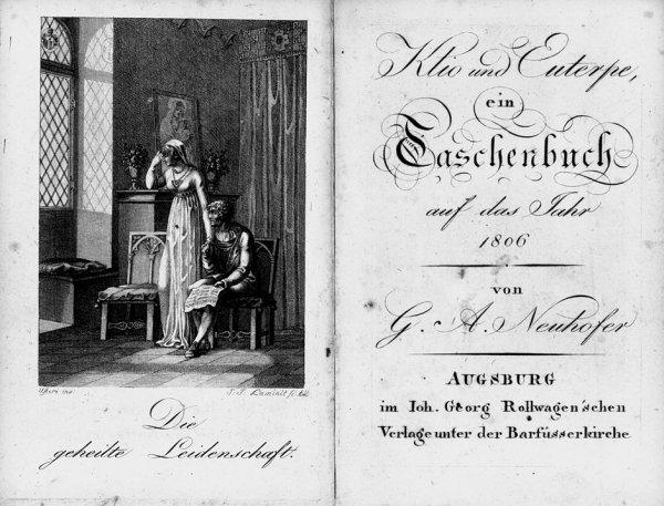 1420: Klio und Euterpe, ein Taschenbuch : 3 Jahrgänge d