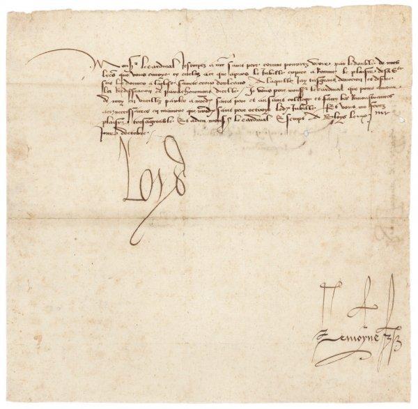 2172: Ludwig XII., König von Frankreich: Brief 1501 an