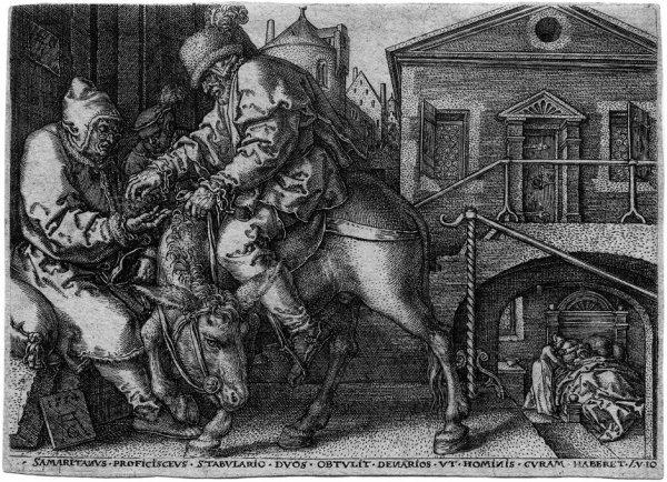 5004: Aldegrever, Heinrich: Die Parabel des barmherzige
