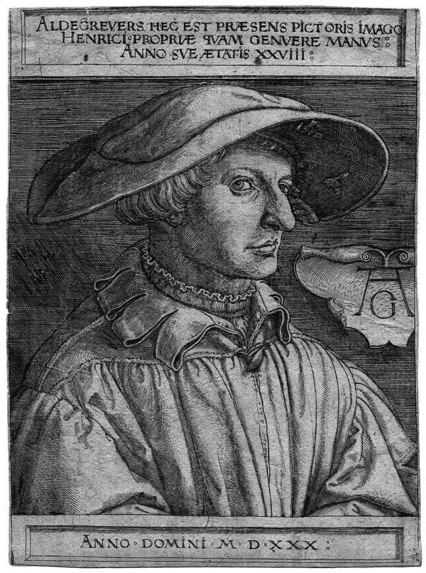 5008: Aldegrever, Heinrich: Selbstbildnis mit 28 Jahren