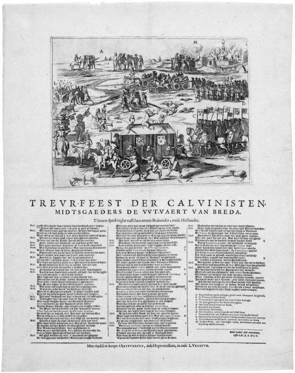 5014: Antwerpen, 17. Jh: Trauerfest der Calvinisten