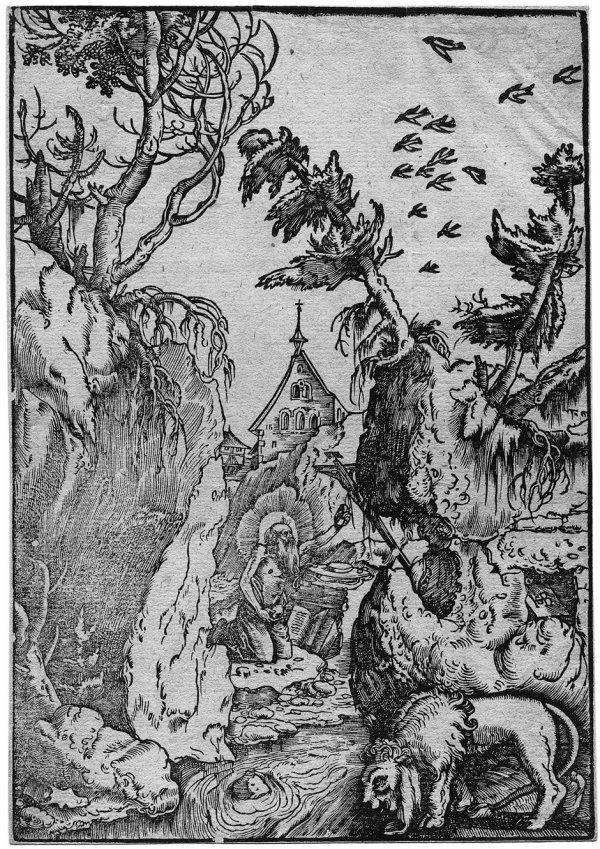 5016: Baldung, Hans : Der Hl. Hieronymus in der Wüste