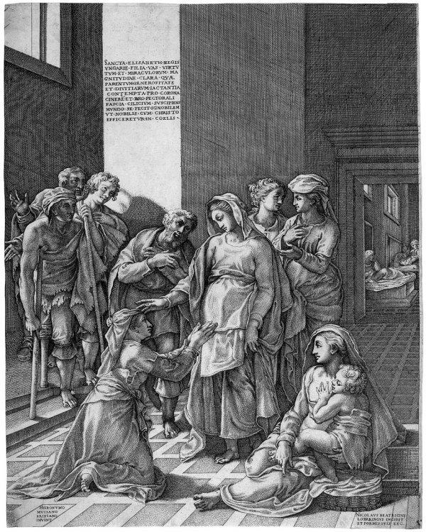 5021: Beatrizet, Nicolas: Die hl. Elisabeth von Ungarn