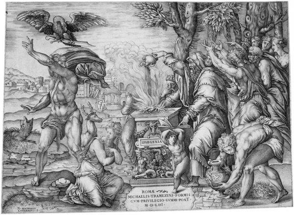 5022: Beatrizet, Nicolas: Das Opfer der Iphigenia