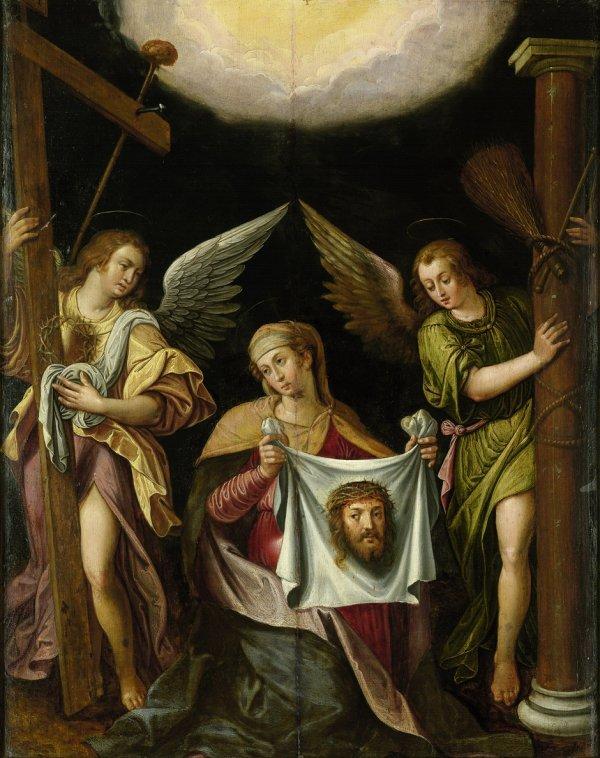 6005: Flämisch, um 1640: Die hl. Veronika mit dem Schwe