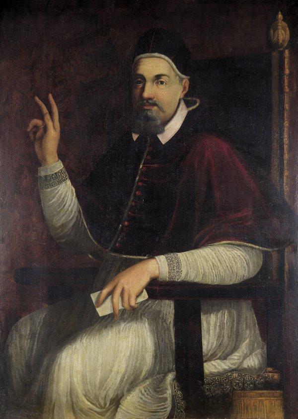 6007: Römisch, um 1630: Bildnis Papst Urban VIII. im Le