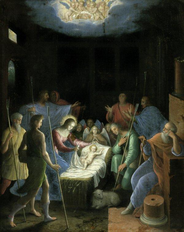 6010: Emilianisch, um 1580: Die Anbetung der Hirten