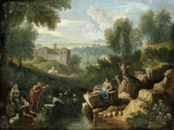 6012: Dughet, Gaspard - Umkreis: Campagnalandschaft mit