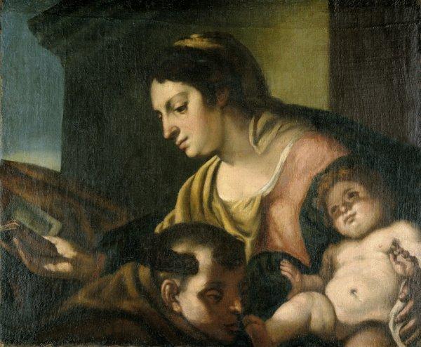 6013: Venezianisch, um 1660: Der hl. Antonius vor Maria
