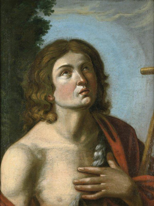 6017: Italienisch, 17. Jh.: Bildnis Johannes d. T. als