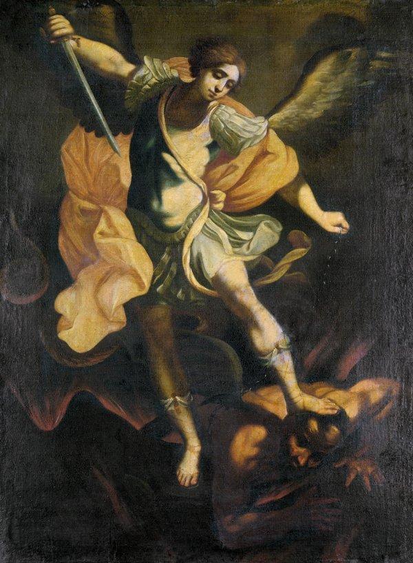 6018: Reni, Guido - Nachfolge: Der hl. Michael mit dem
