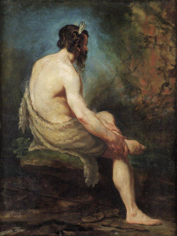 6072: Maurer, Hubert: Moses vor dem brennenden Dornbusc
