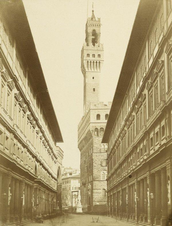 4019: Alinari, Leopoldo: View of Palazzo Vecchio from t