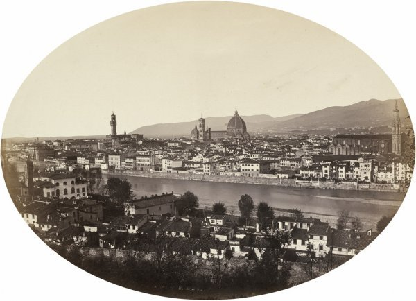 4020: Alinari, Leopoldo: Panoramic view of Florence