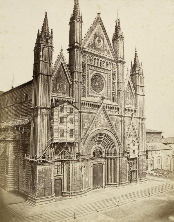 4022: Anderson, James: View of Orvieto cathedral
