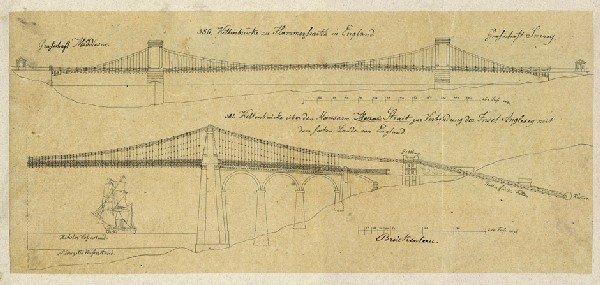 958: Architekturzeichnungen : zum Brueckenbau, Brunnenb