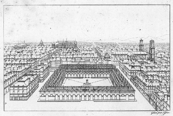 960: Blondel, Jean Baptiste: Plan, coupe, élévation. Pa