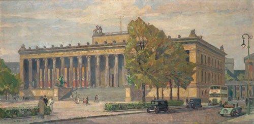 6407: Antoine, Otto: Ansicht des Alten Museums in Berli