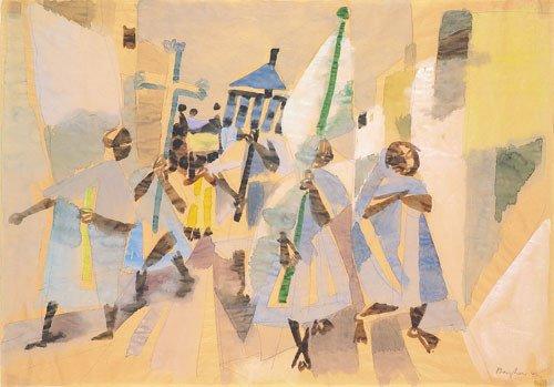 6415: Bargheer, Eduard: Prozession auf Ischia