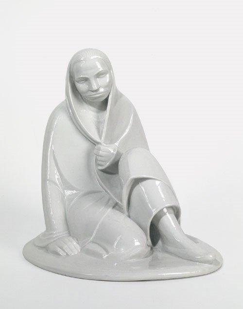 6417: Barlach, Ernst: Sitzendes Mädchen