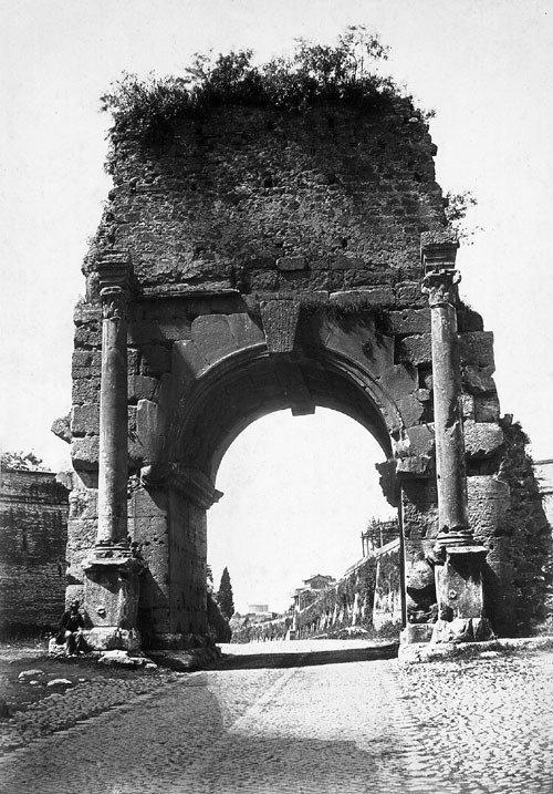 4121: Cuccioni, Tommaso: Arch of Drusus; Forum Romanum