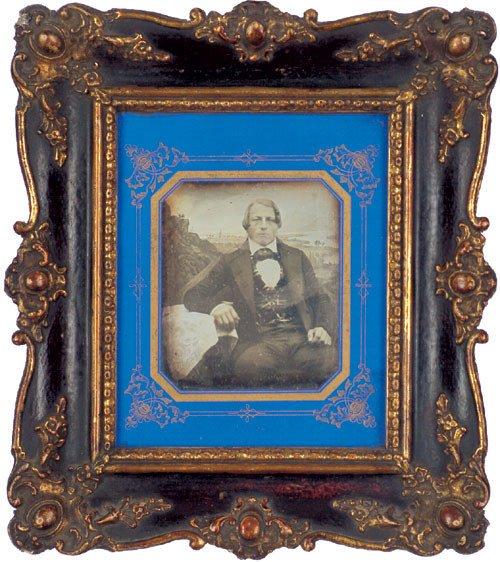 4122: Daguerreotypes/Ambrotypes: Portrait of man; portr