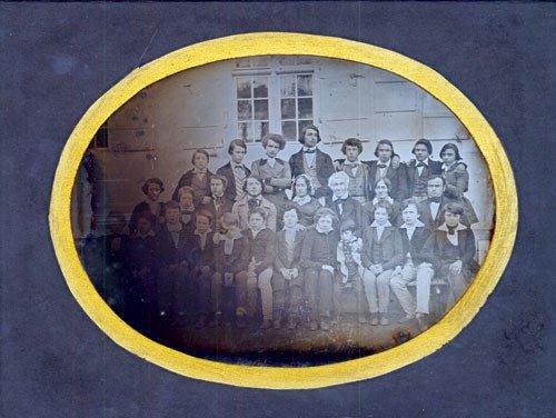 4123: Daguerreotypes/Ambrotypes: School group portrait