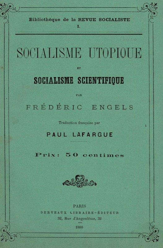 1523: Engels, Friedrich: Socialisme utopique. Paris 188