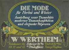 3851: Gipkens, Julius: W. Wertheim G.m.b.H. Mode für He