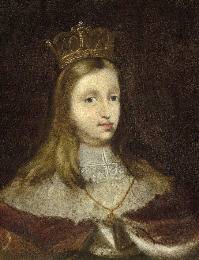 6001: Spanisch, um 1670: Bildnis Karl II von Spanien